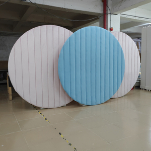 Baby shower party events decoration round wall circle blue wedding velvet backdrop
