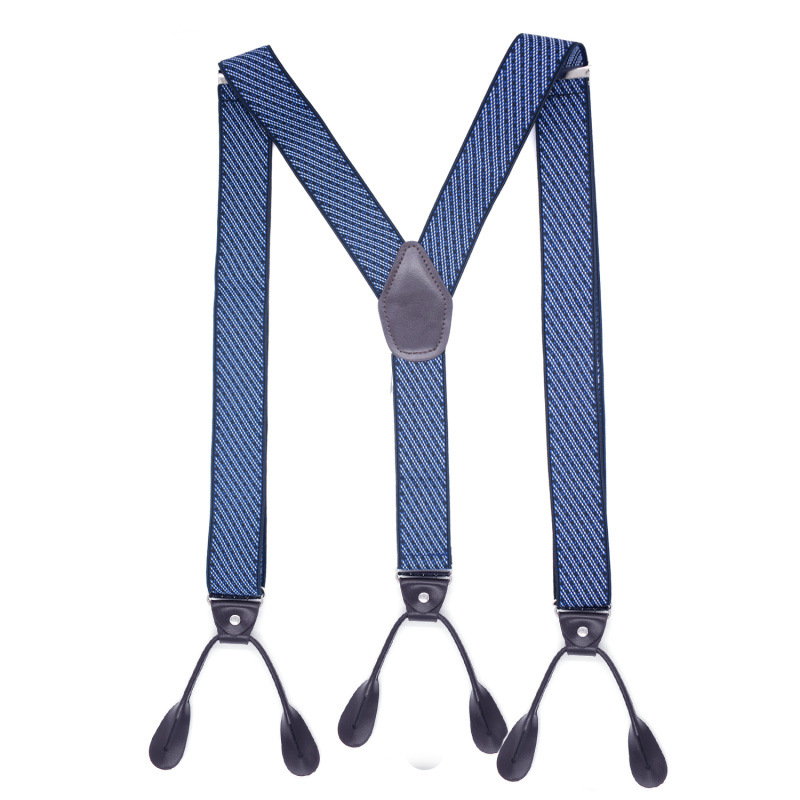 Fashion Different Styles Men 6 buckles Elastic Suspenders For Trousers