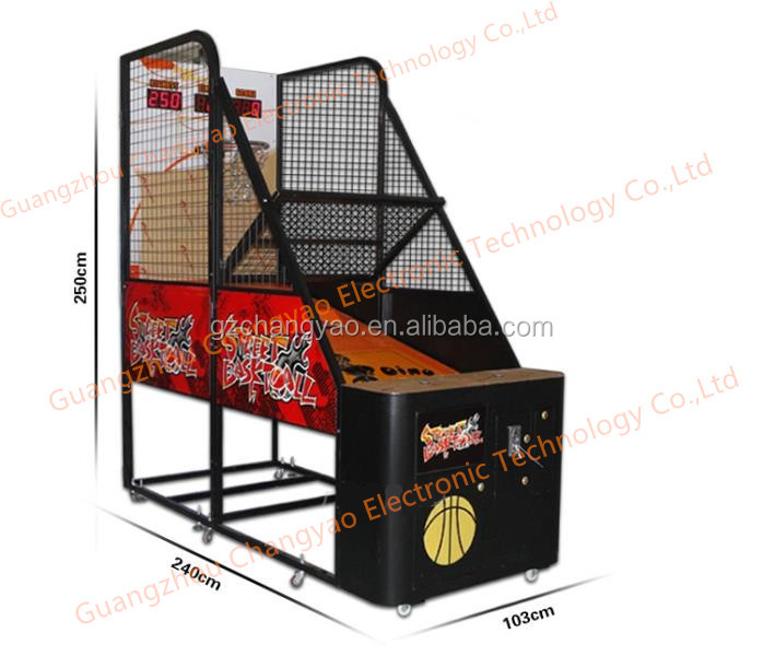 Hot Selling Professional Street Electric Indoor Amusement Basketball Arcade Shooting Game Console Machine For Kids Luxury