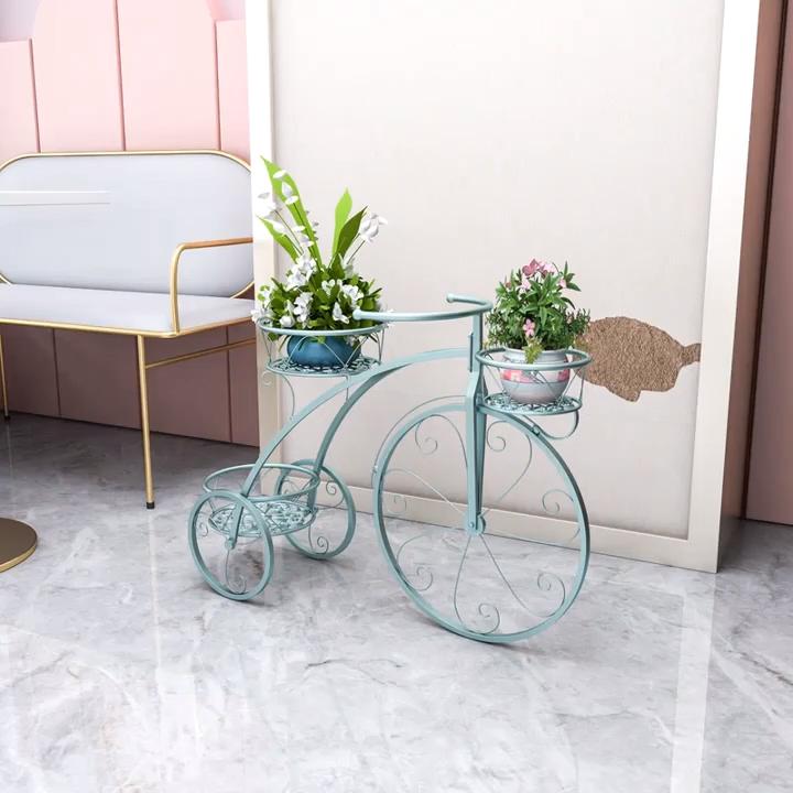 Держатель для горшка Junju, разборная металлическая подставка для цветов и растений, 3 уровня, для сада, балкона, патио, коридора, террасы