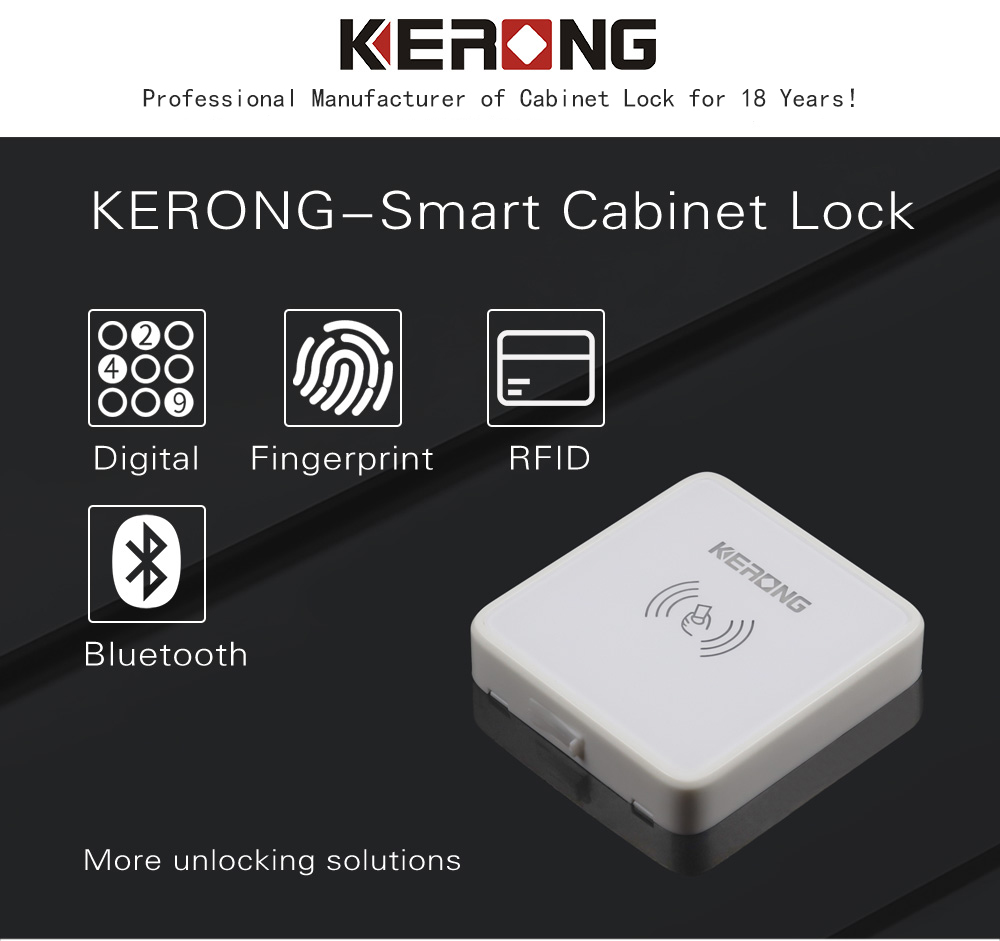 KERONG RFID Drawer Smart Electric Flush Mounted Sliding Cabinet Lock