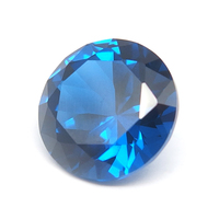 Loose Synthetic Blue Gemstone Round Brilliant Cut Spinel