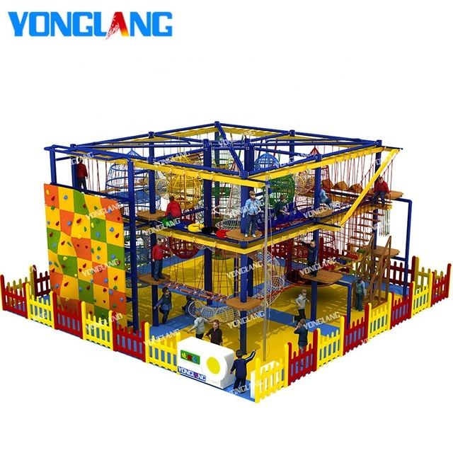 Outdoor / indoor metal and wooden material playground structure