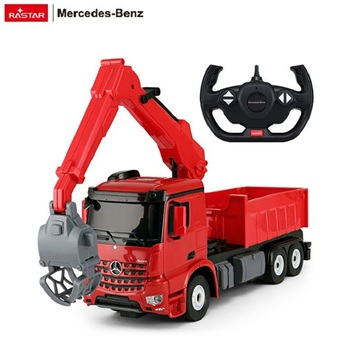 RASTAR plastic electric well toy Mercedes kids rc logging truck