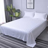 High Quality hotel White 100% Pure Cotton Bedding Sets Flatted Sheet