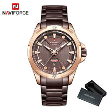 NAVIFORCE простые кварцевые часы для мужчин повседневные Бизнес Мужские часы лучший бренд класса люкс водонепроницаемые мужские часы золотой п...(Китай)