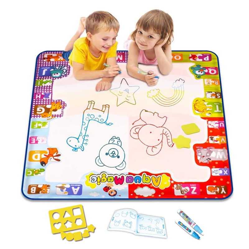 Amazon Hot Selling Toys for Child Fun Painting Kids Educational Large Aqua Magic Coloring Mat Reusable Drawing Water Doodle Mat