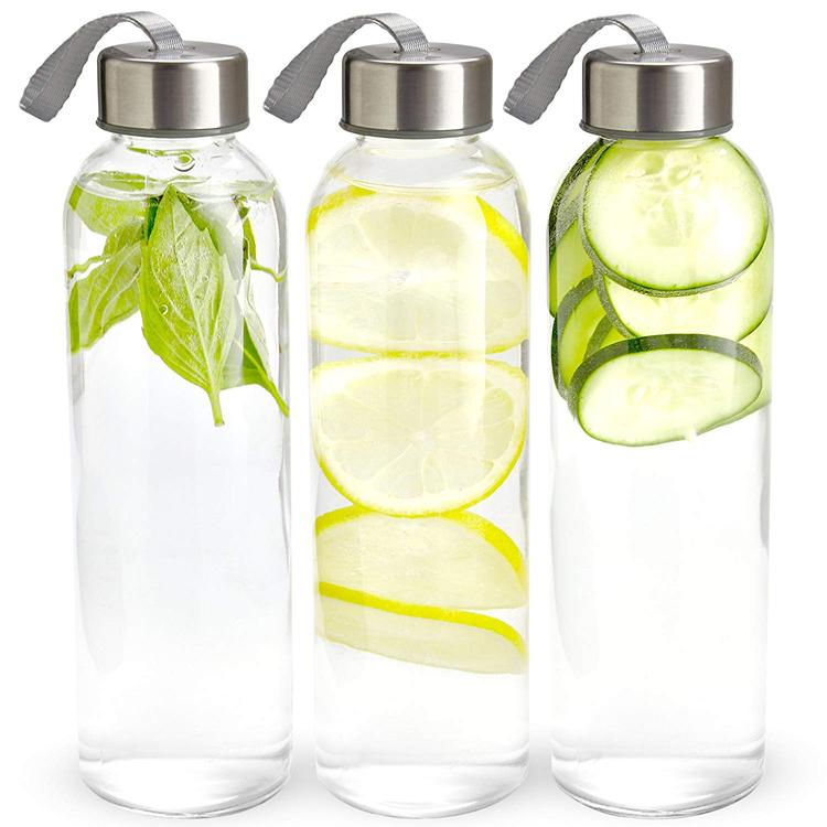 2020 Terbaik Plastik BPA Gratis Botol Air Olahraga Hewan Peliharaan Transparan Botol Air