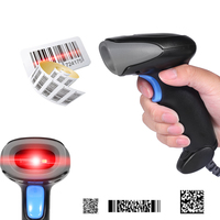 HC-1688 USB Handheld Barcode Scanner,QR Code Reader Wired for Android and Windows PC/POS System