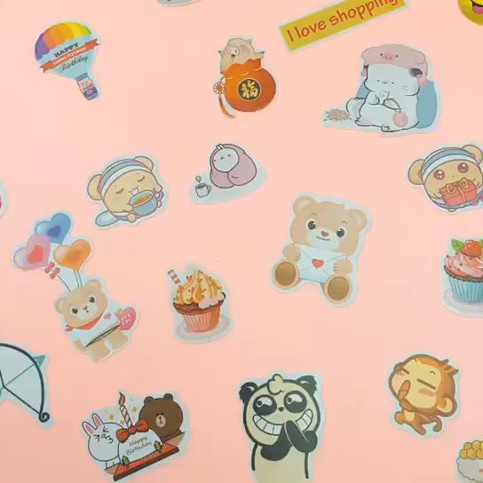Stiker Murah Hadiah Lucu Anak-anak Stiker Buku Harian Lucu Segar Kecil Toko Online Hadiah Kecil Grosir