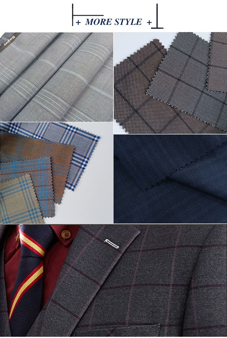 wholesale cheap stock lot tr jacquard fabric by roll fashion design polyester plaid fabric in China quick delivery