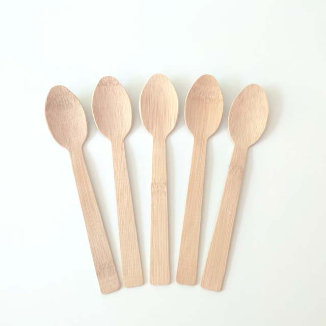 Factory price wholesale degradable natrual tableware disposable bamboo spoon