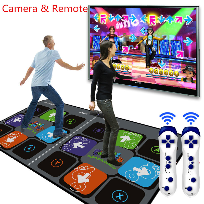Footstep Pattern Wireless Double HD dance mat pad for tv usb computer step game machine dual hd thickening Yoga mats Footstep Pattern Wireless Double HD dance mat pad for tv usb computer step game machine dual hd thickening Yoga mats