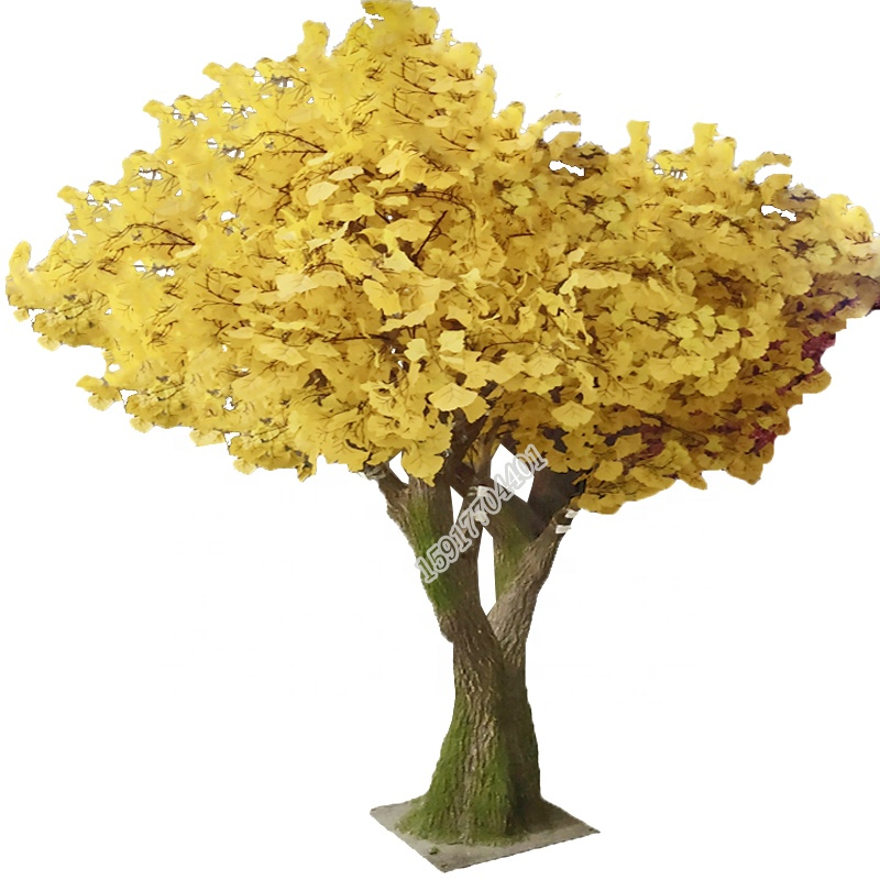 Factory sale fake ginkgo Tree tree artificial apple  tree for christmas decoration