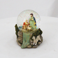 Holy Family Christmas decoration resin sculpture water ball