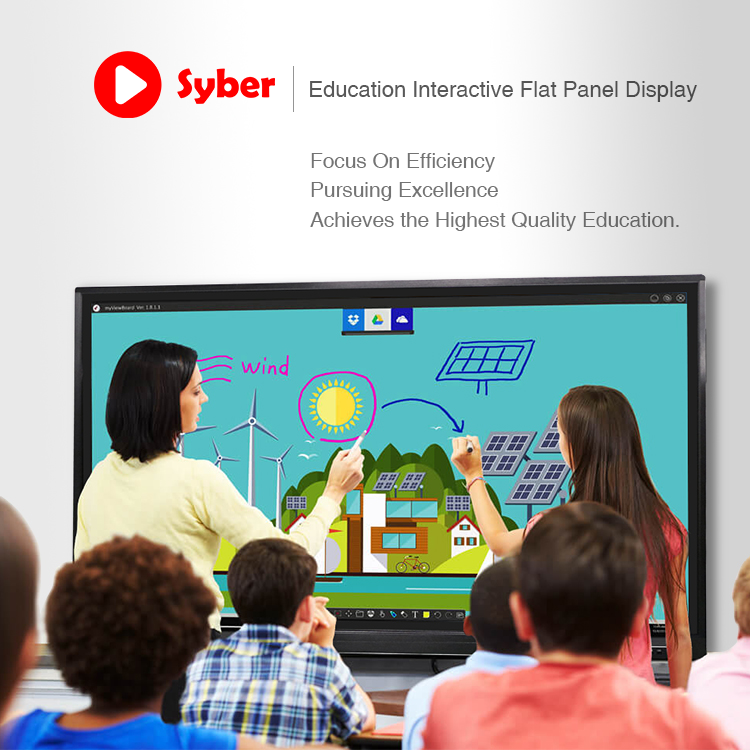 Cina Murah 55 Inch Smart Board Interactive Whiteboard Tidak Ada Proyektor Portabel Touch Screen Smart Papan Tulis Interaktif
