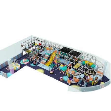 Diseño de la serie espacial de moda estructuras de juego para niños atractivos Parque Infantil de interior grande, al por mayor parque de juegos de deslizamiento de rodillos para interiores