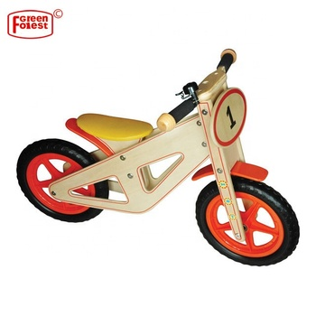 Adjustable Seat Wood Children Kid Balance Bike