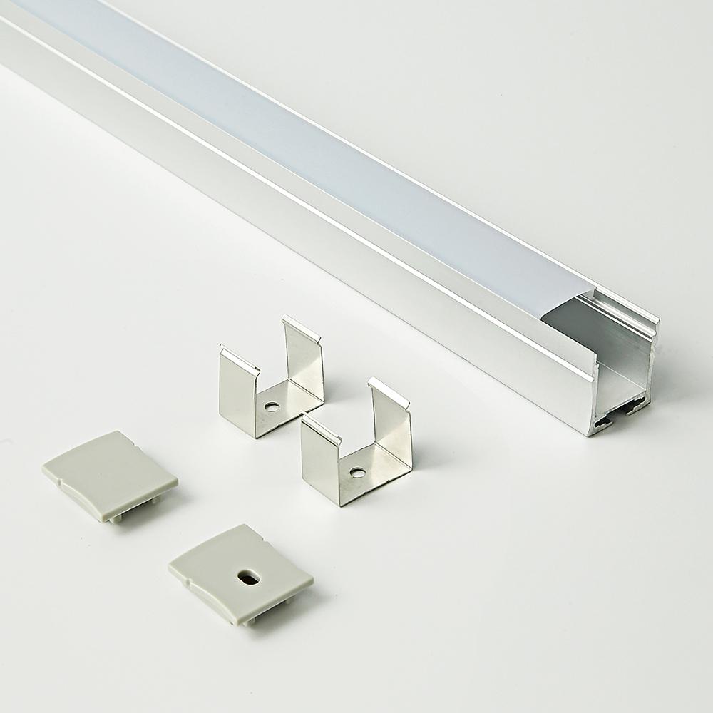 23x27B Hanging led aluminum anodized aluminum extrusion led profile surface mounted led light strip profile