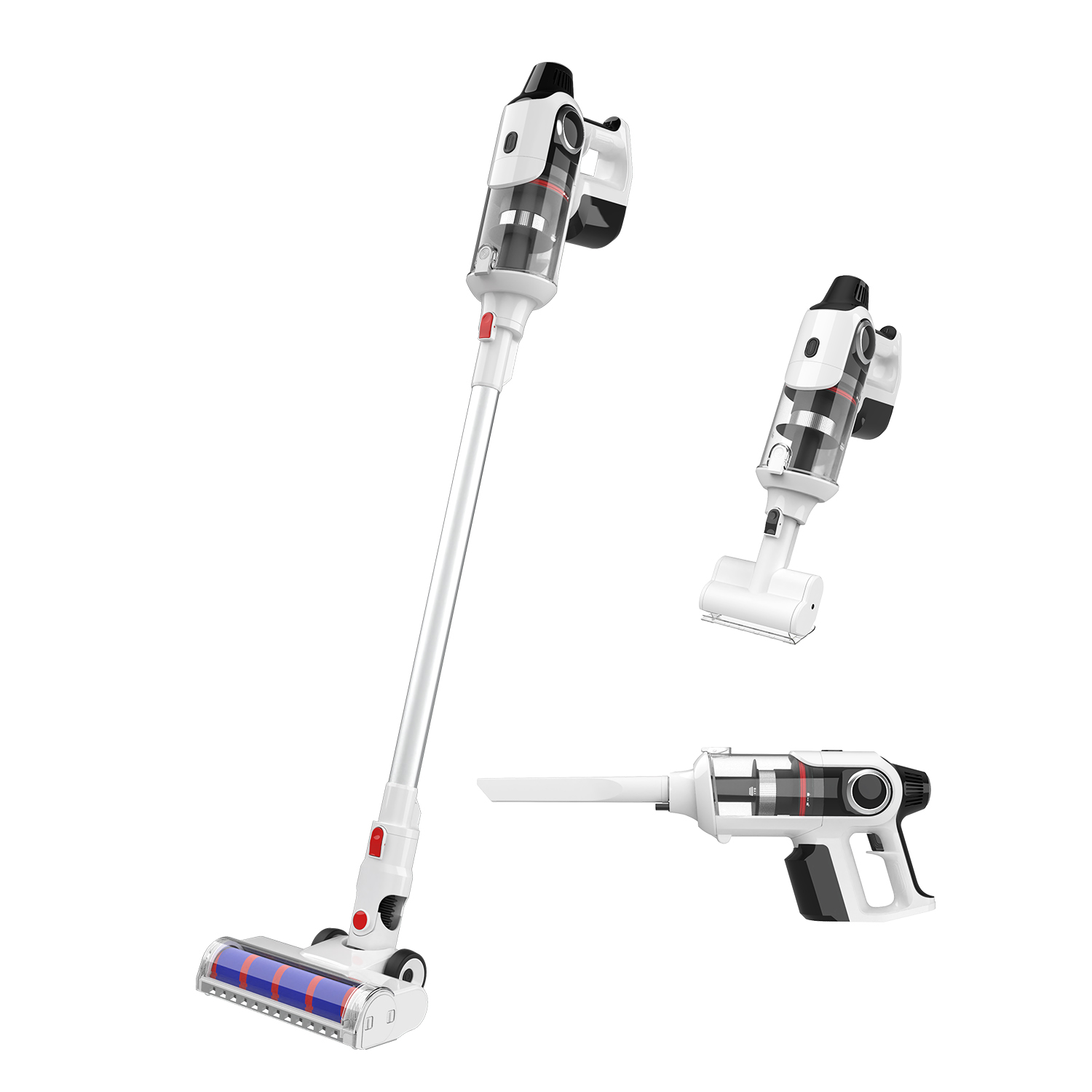 300W Powered Cordless Rechargeable Stick vacuum cleaner low noise vacuum cleaner for sale