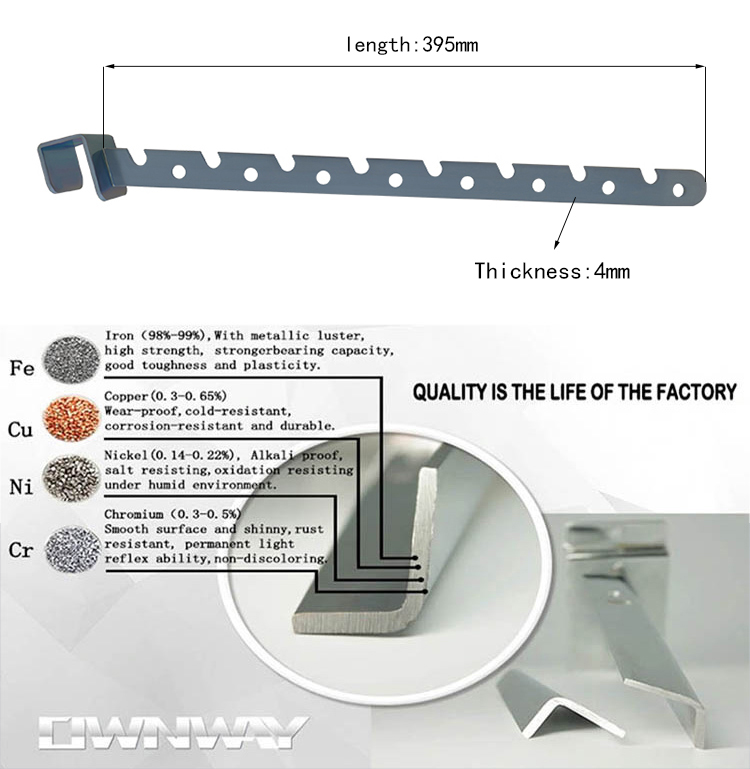 Factory Metal zinc plated gear chrome bracket