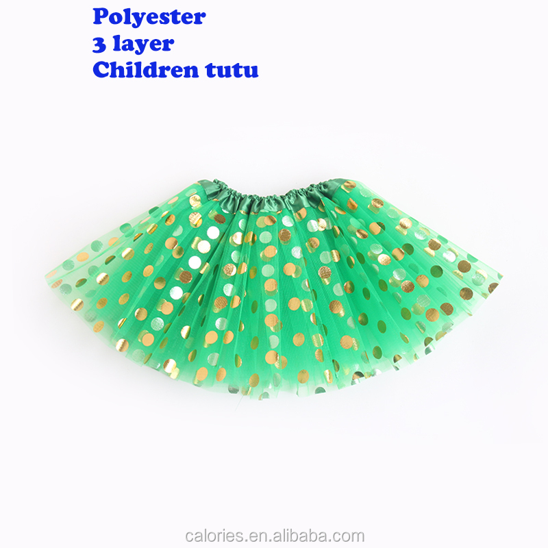 The new tutu skirt for wafer children in 2020 Children's Halloween Christmas party Tutu dress Three-layer sequined mesh tutu