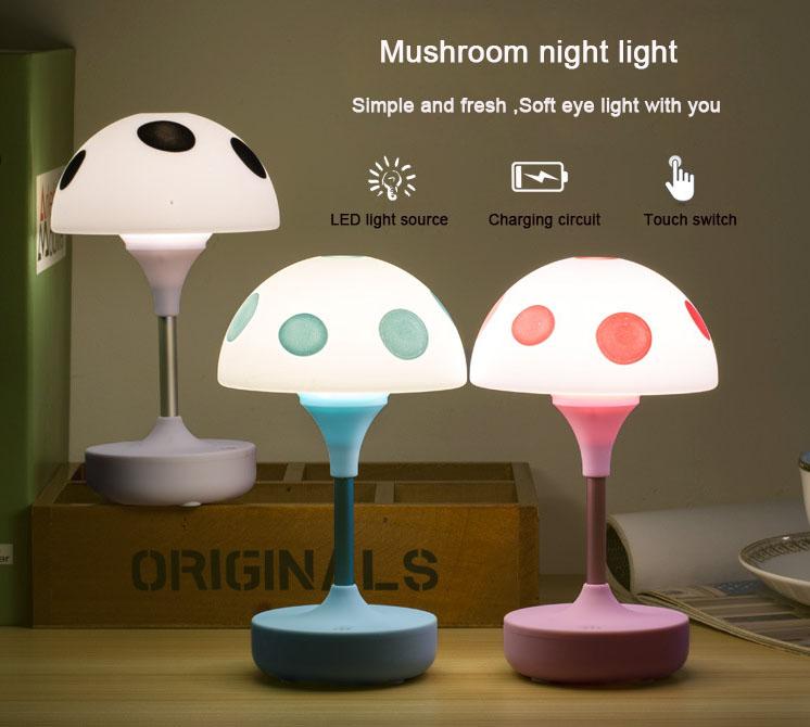 Lampu Karakter Jamur untuk Belajar Anak