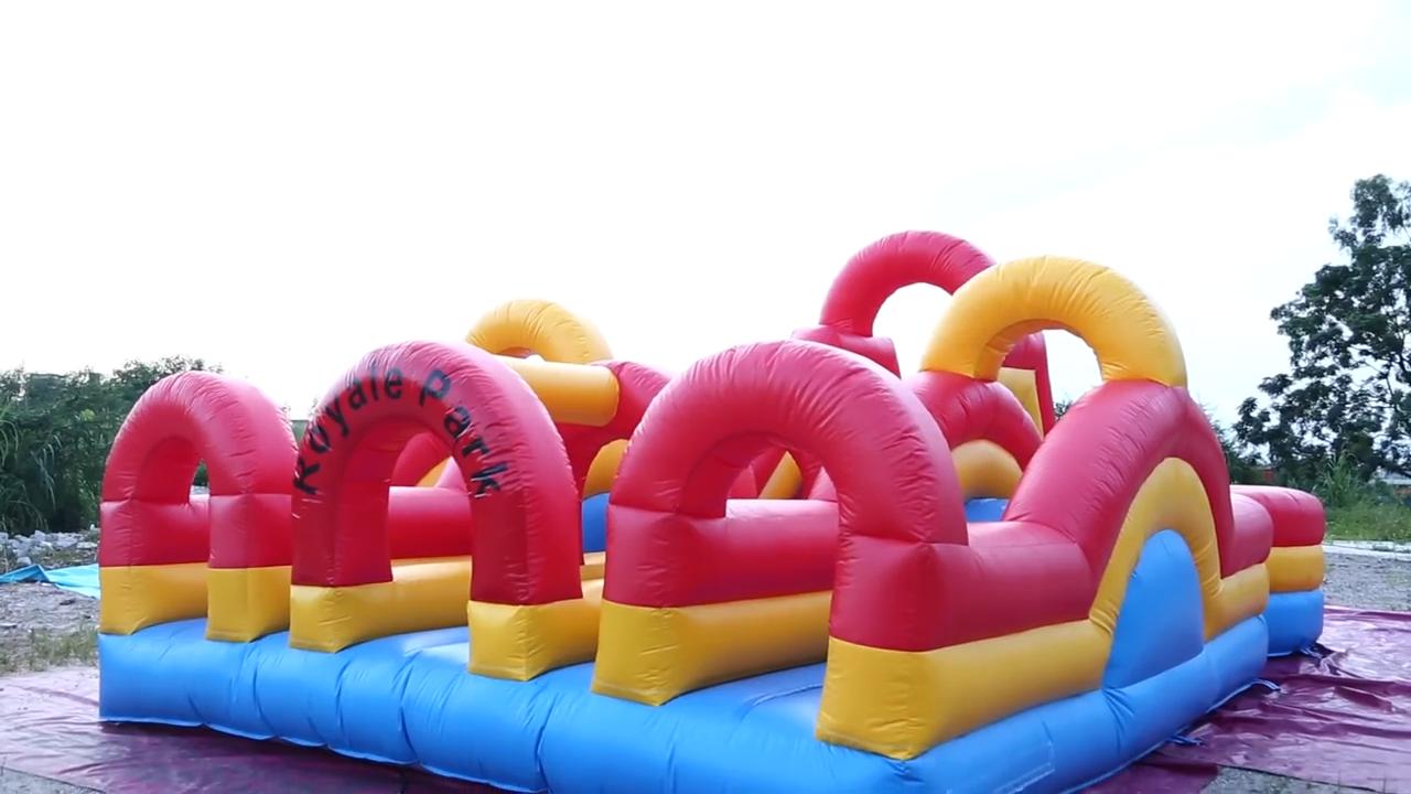 Коммерческий надувной батут для препятствий, водная горка, Комбинированная игра для мероприятия