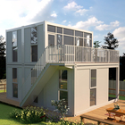 Light Steel Flat Pack summer prefab eco glass house uk for usa Beautiful Prefab Container Homes European Style House China