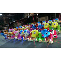 indoor plush motorized battery coin operated walking electric animal ride for shopping mall