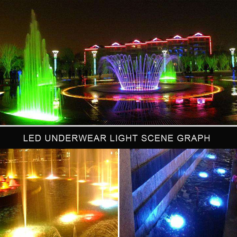 FSSZ Fountain Swimming Pool Lamp ip68 outdoor waterproof Stainless Steel RGB Led Underwater Light Housing 9W 6w 3w
