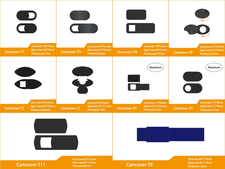 Impression logo personnalisé caméra d'ordinateur confidentialité webcam protéger couverture curseur d'ordinateur portable