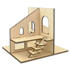 Fast Delivery DIY 3D Wooden House Kit, Different Shape Make By Yourself Wooden House Kit