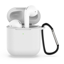 Nirkabel Earphone Dropshipping Hot Shockproof Silicone Case Pelindung untuk <span class=keywords><strong>Apple</strong></span> <span class=keywords><strong>AirPods</strong></span> 1/2