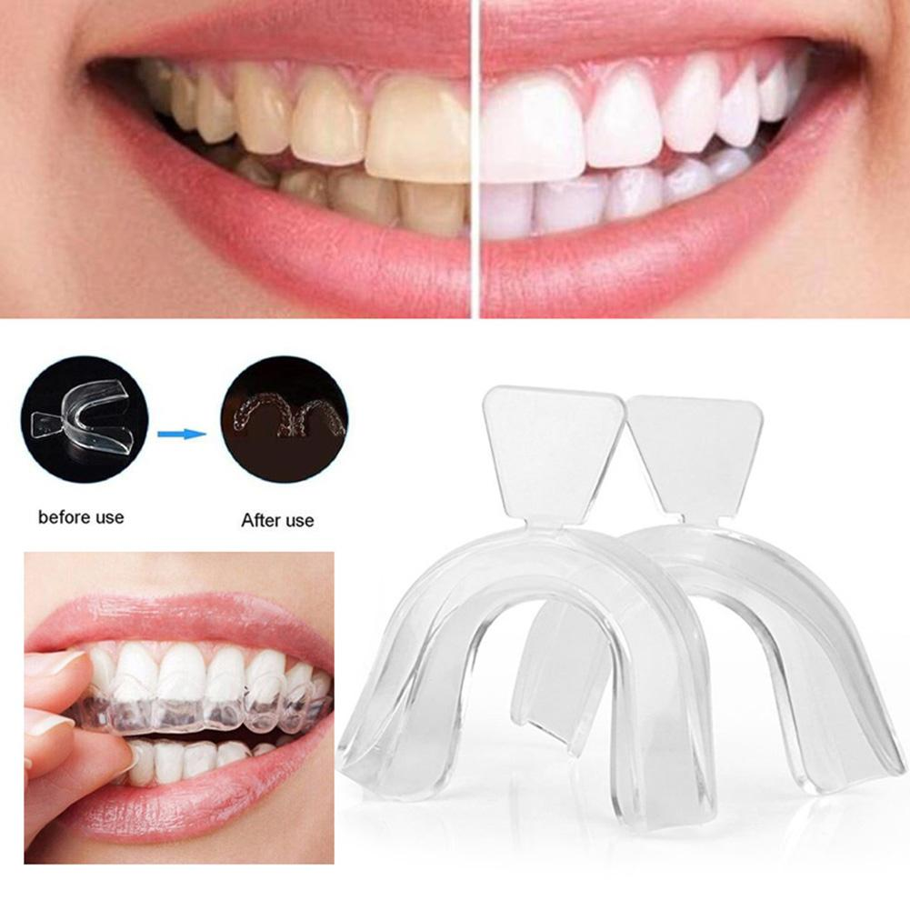 2pcs Food Grade Silicone Thermoform Teeth Whitening Tray Dental Care Mouth Guard Teeth Orthodontic Retainer Trainer Aliexpress