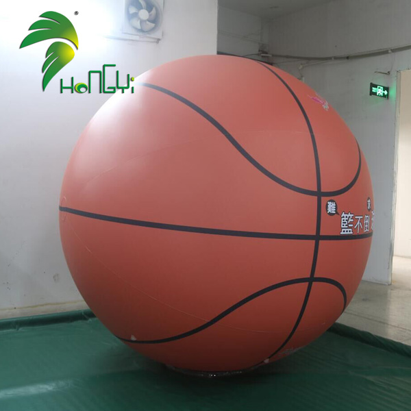 Big Sport Event Inflatable Giant Shiny PVC Basketball Ball For Advertising