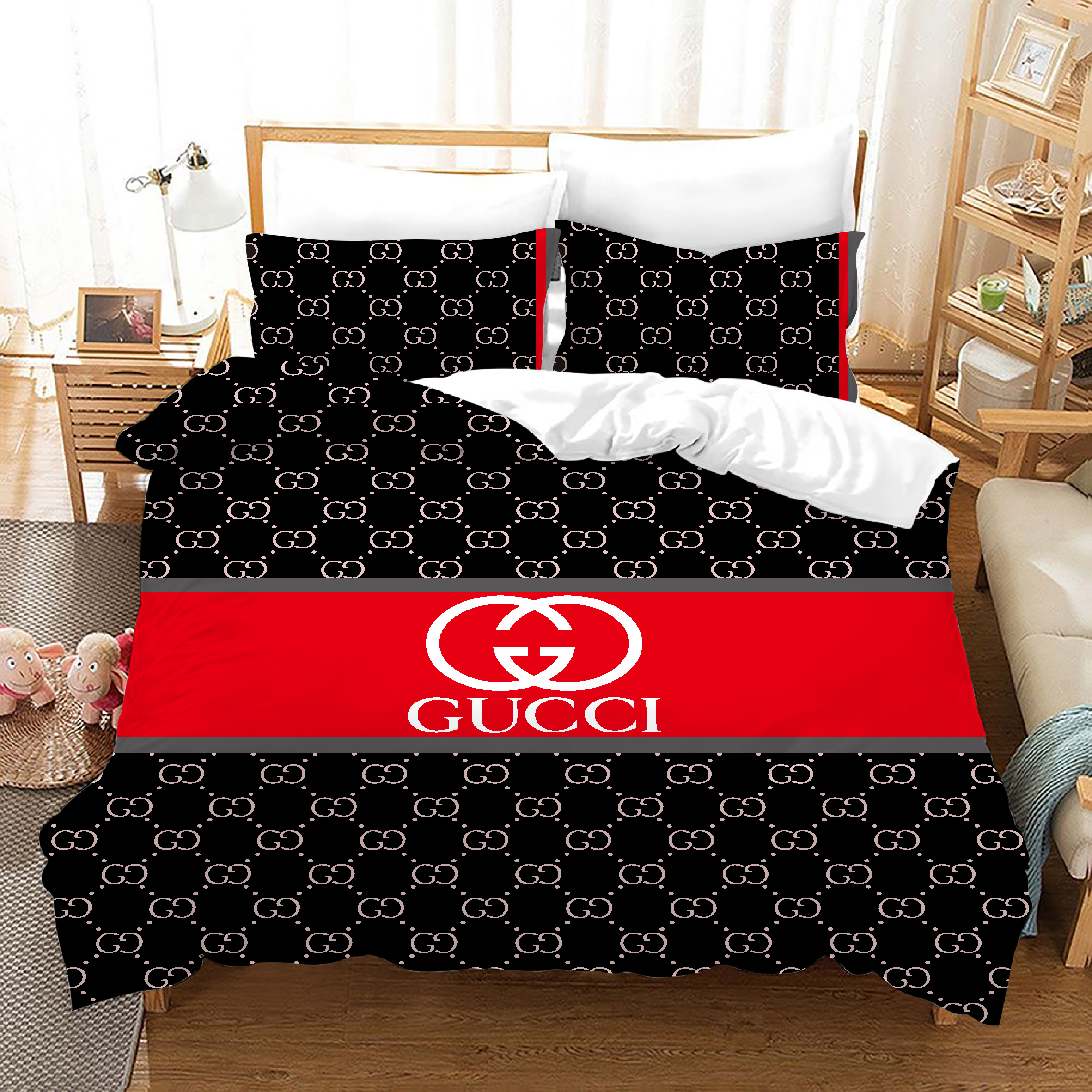 2020 Hot Selling 100% Polyester Digital Print Bedding Classical Superior Quality  famous brand Duvet Cover adult bedding set