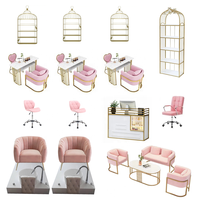 Hot selling beauty nail spa salon chairs pink pedicure and manicure chair