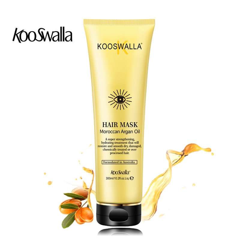 KooSwalla Argan Oil Hair Mask Repair Nourish All Hair Type Hydrating Argan Oil Hair Mask