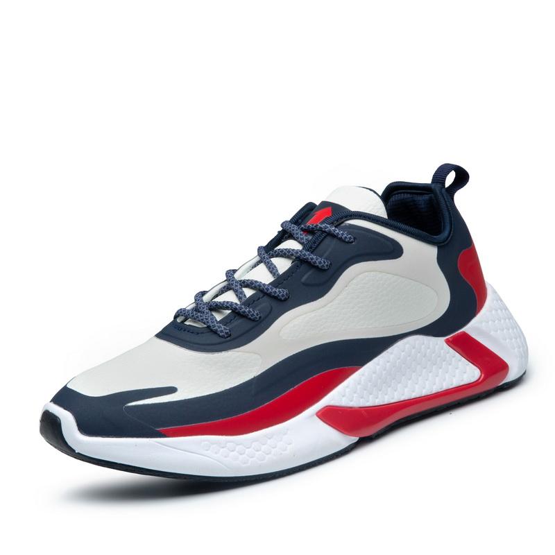 ¡Nuevo diseño 2019! ¡venta al por mayor! zapatillas deportivas de cuero para hombre con LOGO personalizado