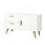 Scandinavian dining room small white classic modern sideboard cabinet with oak legs