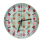 Custom Fashion Home Decoration Metals Simple Printed Wall Clock
