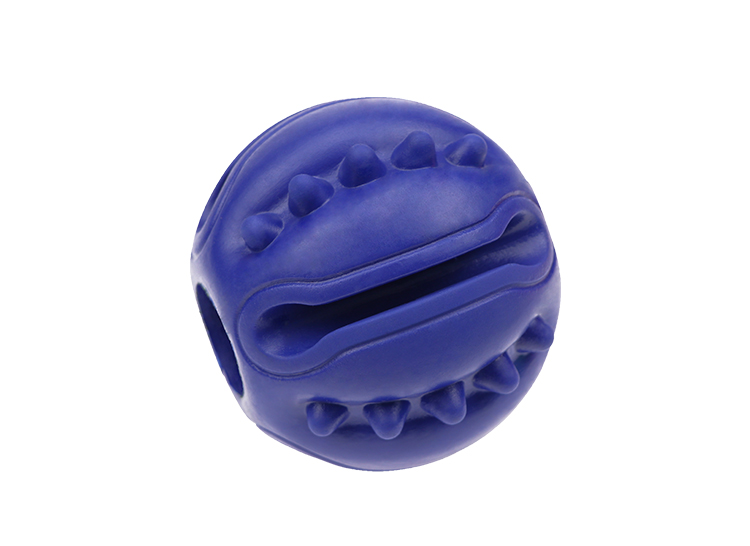 Rubber  pet  toy   Treat  Dispensing toy    New design of molar cleaning toy ball, bitable dog snacks leak pet dog toys
