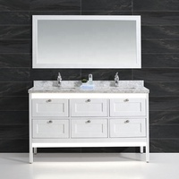 Customizable New Arrival Mdf Bathroom Double Sink Cabinet Vanity Furniture