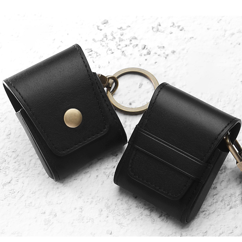 2019 Fashion Genuine Leather Brown Headphone case protective cover for Air Pods фото
