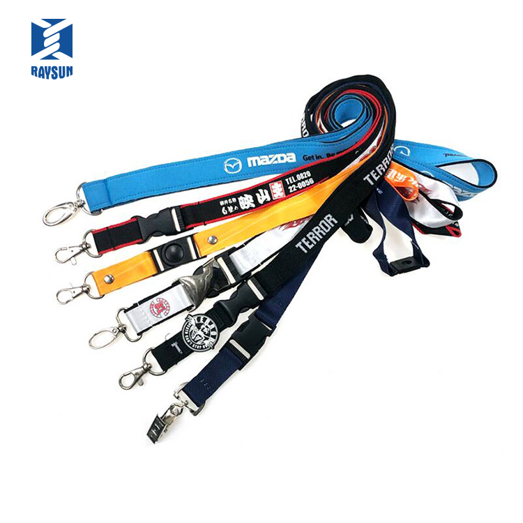 Custom high quality Sublimation printing Polyester id hold lanyard