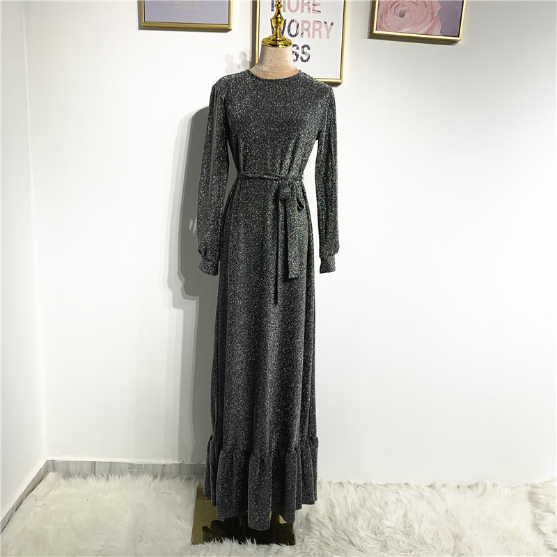 Wholesale New fashion abaya Dubai Turkey hijab dress muslim women glitter dress islamic clothing