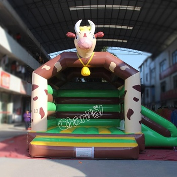 Lovely Cowboy theme small size inflatable bouncer amazon jumping castle
