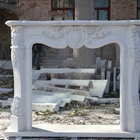 Marble fireplace surround french style for indoor