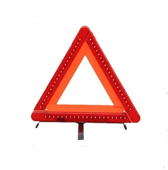 Factory Emergency Hazard Sign LED Light Cars Tripoad Auto Reflective Stop Sign Board Parking Safety Sign Warning Triangle